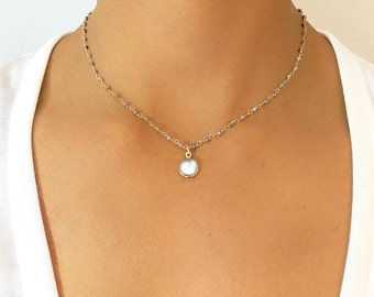 Saphire Pendant Necklace - Saphire Statement Necklace - Saphire Jewelry