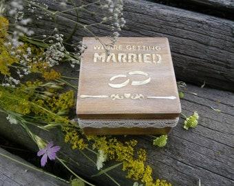 Rustic wedding box, Personalized box, Wedding ring box, Rustic ring box wedding ring bearer box, Wedding ring pillow, Custom ring box wooden