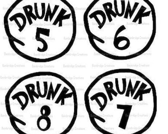 Drunk 5-8 SVG Downloads