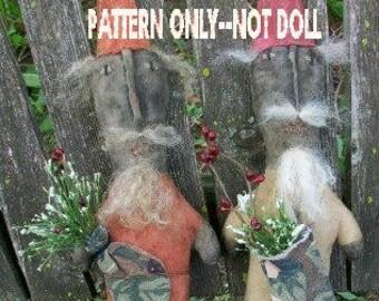 Primitive epattern-NOT DoLL Christmas  Santa Claus Klaus man Crows Roost Prims 231e epattern immediate download