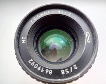 Russian Lens Zenit USSR Helios 44-3 58mm f/2 M42 Soviet Lens. Soviet vintage lens Broken for parts