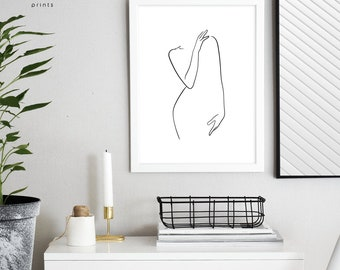Single Line Text Art : Line drawing art print minimalist single poster black