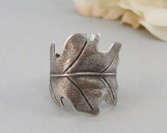 Silver Leaf,Leaf Ring,Leaf Jewelry,Woodland Ring,Oak Leaf,Silver Ring,Handmade Ring,Handmade Leaf Ring,Boho Ring,Boho Jewelry,Bridesmaid