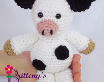 Cow Stuffed Animal Stuff Cow Crochet Cow Stuff Animal Crochet Animal Cow Toy Crochet Animal Plush Cow Toy Cow Snuggly Pal
