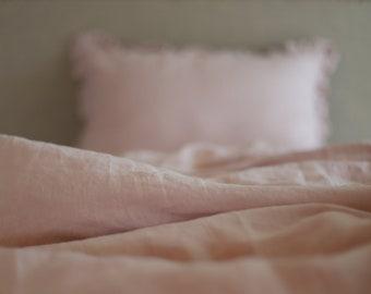 Old rose Linen Duvet cover-15 colors - Pre washed Linen Duvet Cover-Linen bedding-Stonewashed duvet -Natural Duvet Cover #November rain#