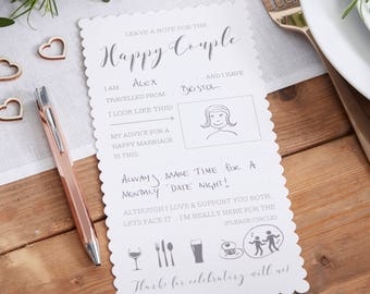 NEW! Advice For The Bride & Groom Cards - Advice For The Happy Couple Cards - Wedding Party - Wedding Games - Table Decor - Wedding Party