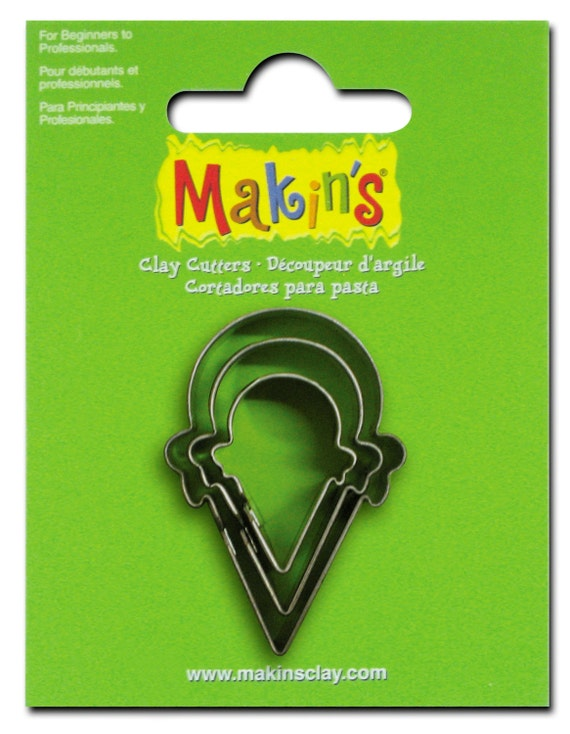 """You'll stay cool with these ice cream cone cookie cutter in 3 sizes from 7/8"""" to 1-3/4"""" tall"""