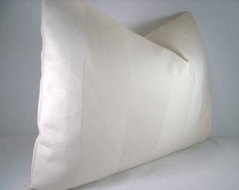 Modern Striped Decorative Accent Lumbar Pillow Cream 16X20