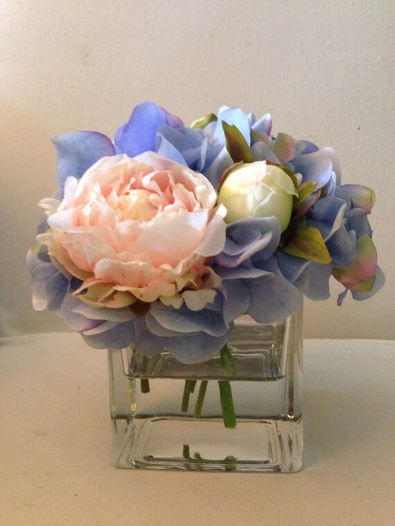 Silk flower arrangement faux flower arrangement in acrylic mightylinksfo