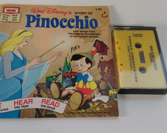 Walt Disney's Pinocchio Book and Tape Cassette See Hear Read Songs from Motion Picture Soundtrack (1)