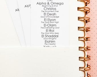 Names of God | Bookmark (Individual) | Christian Bookmark