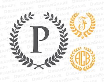 Laurel SVG Files, Wreath SVG Files, Laurel Wreath SVG, Laurel Svg, Wreath Svg, Frame Svg, Laurel Wreath for Cricut Machine, Instant Download