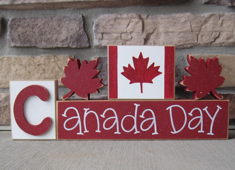 BLOQUES del día de Canadá con el arce hojea y bloquea la