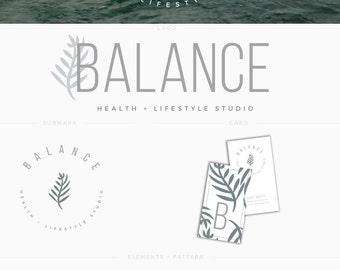 Logo & Brand Suite Balance - Minimal Premade Brand Kit - Logo Design