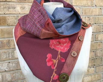 Repurposed Vintage Japanese Kimono Scarf