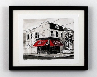 Bamboo Cafe - The Fan, Richmond VA - Giclee Print