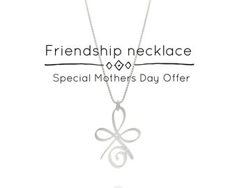 Friendship Symbol Necklace, Friendship Necklace, Best Friend Gift, Wedding Necklace, Inspirational Necklace, Valentines Day, BFF Gift