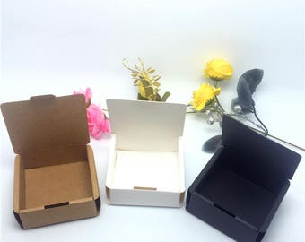 50pcs 5.5*5.5*2.5cm Kraft paper box handmade soap  box small jewelry carton box packaging box