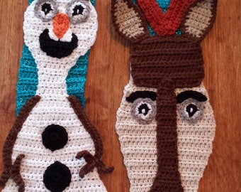 "Crochet ""Frozen"" inspired Olaf/Sven Scarf"