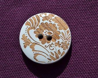 button round fancy 28 mm diam.