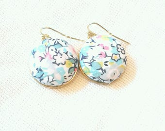 Colorful Floral Liberty of London Dangle Earrings