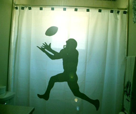 American Football Shower Curtain Kids Sports Bathroom Decor