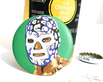 Lucha Libre Luchador - Mexican Wrestler Magnetic Bottle Opener - Cool Mexican Wrestling Gifts For Him - Cinco de Mayo