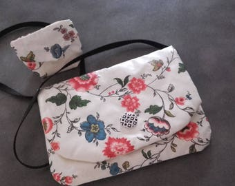 Coated fancy cotton shoulder bag purse