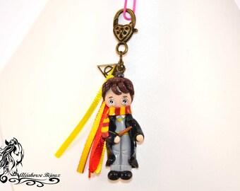 Porte clé Harry Potter en pâte fimo