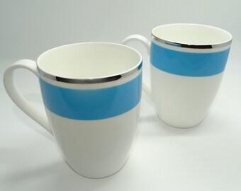 Villeroy & Boch Anmut My Colour Petrol Blue Mug, Set of 2