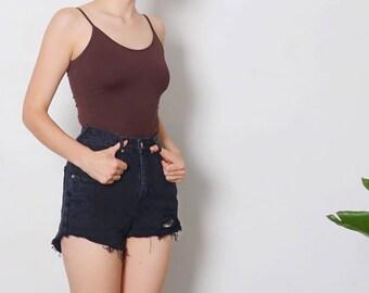 BLACK DENIM SHORTS hi rise shorts high waisted shorts high rise shorts highwaisted shorts ripped shorts ripped jean shorts levis 501 shorts