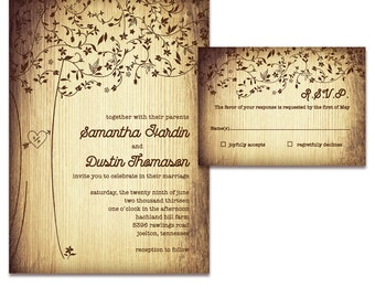 Tree of Love Wedding Invitation Sample Set