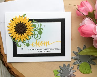 Mothers Day Card, Happy Mothers Day Card, Mom Birthday Card, Birthday Card for Mom, Flower Mothers Day Card, Mothers Day Flower Card, Mother