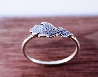 Leaf Ring | Oak Leaf Ring in Sterling Silver
