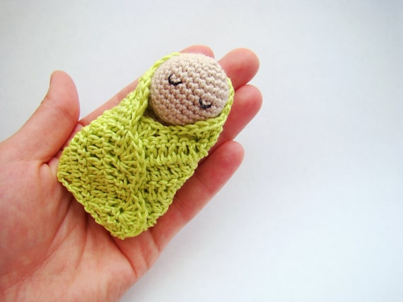 High Quality Crochet Swaddle Doll Crochet Baby Shower Favors Baby Shower