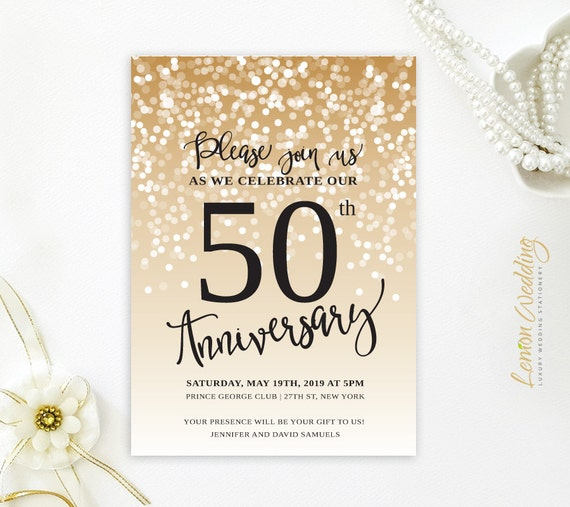 50th wedding anniversary invitations golden wedding like this item add it to your stopboris Images