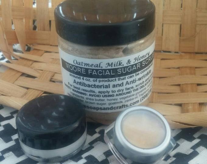 8 oz. Oatmeal, Milk and Honey Facial/Body Scrub with .5 oz Facial Salve