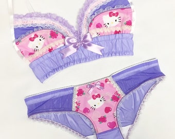 Pastel Hello Kitty Panty - Pick Your Size - Handmade Vegan Bridal