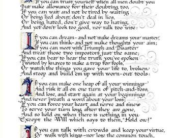 If by Rudyard Kipling. Print/Poster. (002322)