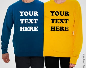 Personalised Double Jumper Custom Printed Twosie Sweater Personal Couple Two Person Sweatshirt Funny Partner Wedding Birthday Top Your Text