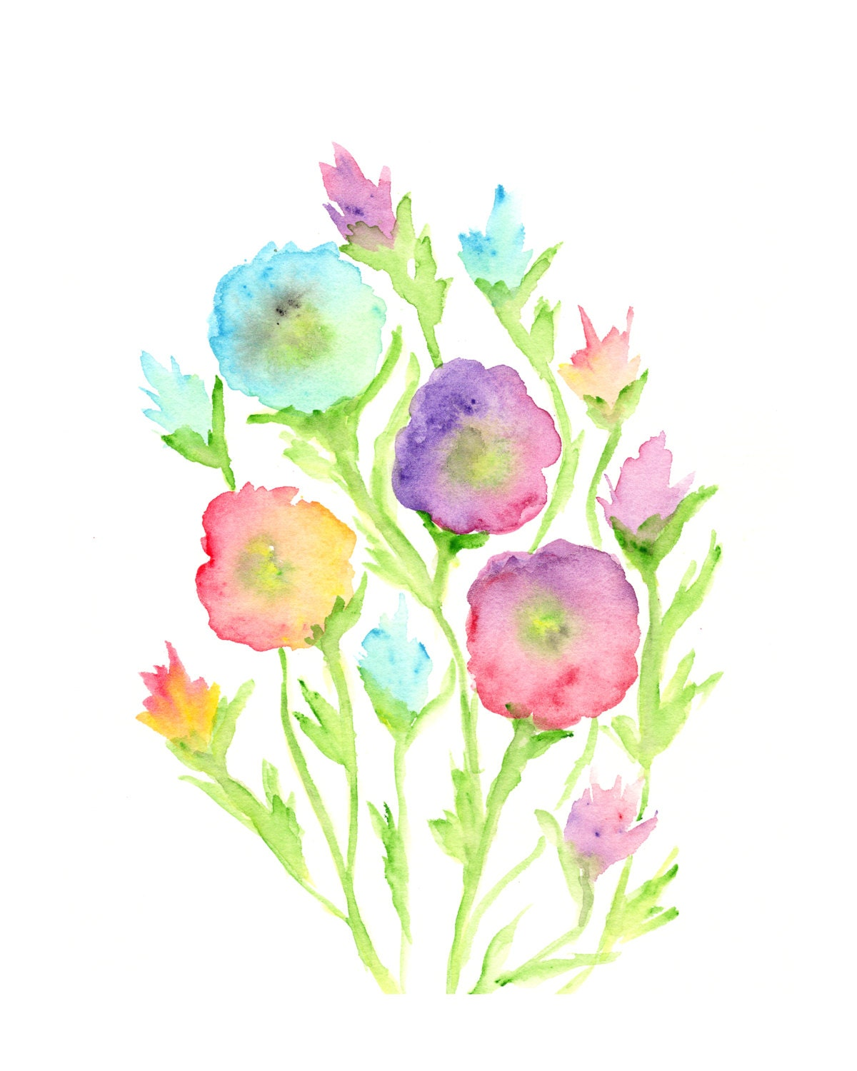Abstract watercolor flowers images for Watercolor painting flowers