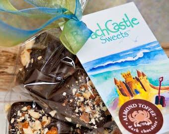 Almond Toffee - Buttery, Crunchy Goodness - 4 Ounce Bag