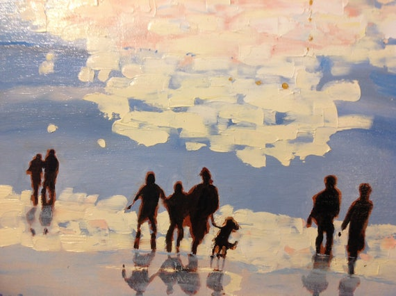 Beach Painting, Landscape Painting, Vacation Painting, Sunny painting