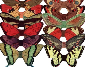 Digital Download Clip Art Vintage Images Butterfly Wings Fairy Colorful