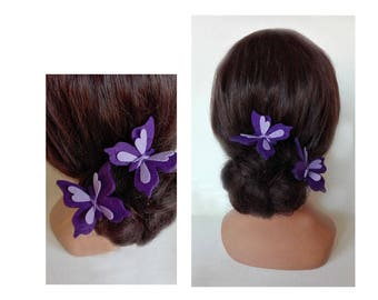 hair clip felt papillom barrette, hair pin, Haarklammer, ceremony, women hat Cap