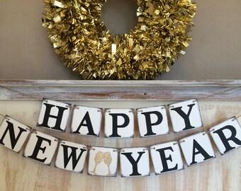New Year Banner,Happy New Year Banner,Happy New Year Garland,New Years Eve Banner,Happy New Year Decor,New Year Prop,New Year Decoration