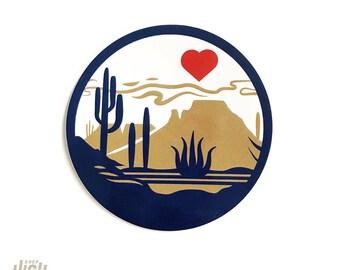 """Heart of the Desert : 3"""" Vinyl Sticker"""