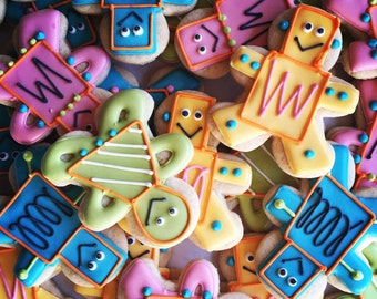 Mechanical Robot Decorated Sugar Cookies-1 dozen