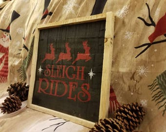 Handmade reclaim wood holiday sign
