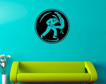 Judo Wall Decal Fighting Vinyl Sticker Martial Arts Stickers Home Art Decor (4jo)